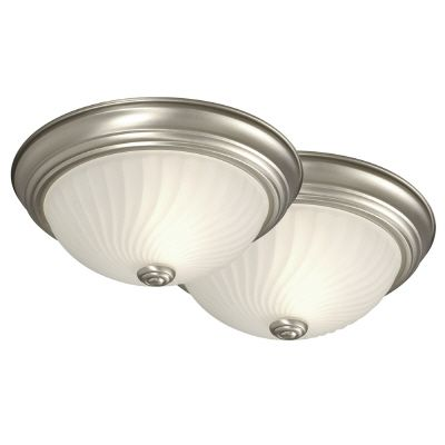 Twin Pack Flush Mount With Frosted Glass