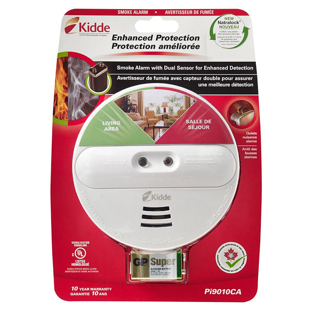 kidde battery operated dual sensor smoke alarm the home depot canada. Black Bedroom Furniture Sets. Home Design Ideas