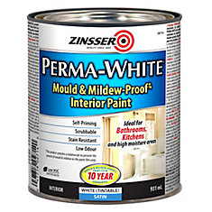 zinsser la peinture anti moisissure perma white satin 941 ml home depot canada. Black Bedroom Furniture Sets. Home Design Ideas