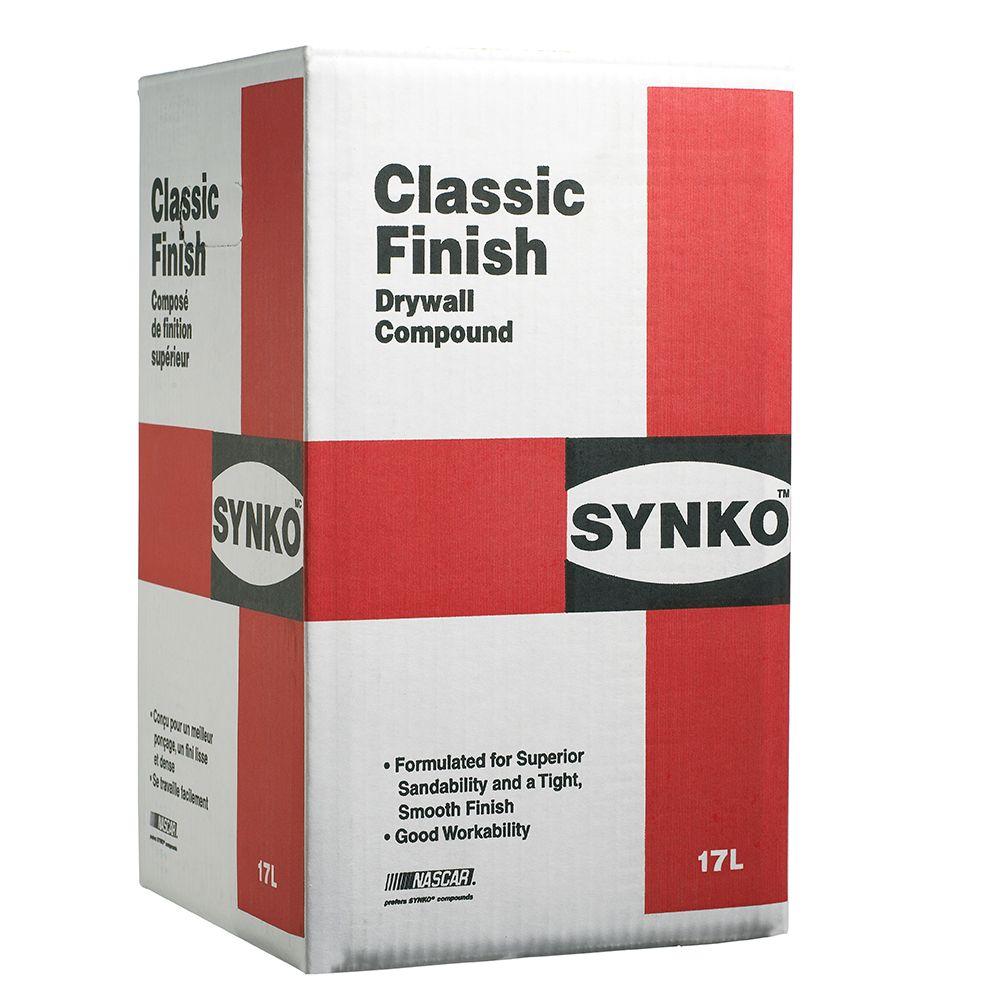 Le Composé Pour Cloison Sèche SYNKO CLASSIC FINISH prêt à l'emploi, boîte de 17 litres