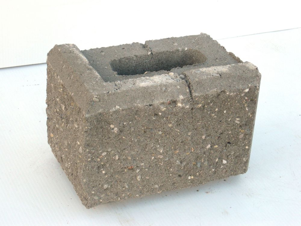 Allan Block (Ab) Jumbo 12-inch 6 Degree Corner Wall Block Gray