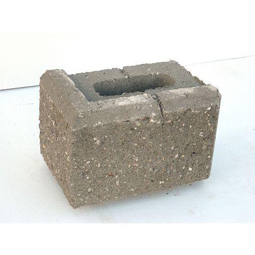 Oldcastle Gris -  AB Jumbo -12 po Module de Petite Coin - 73/4 X 11 5/8 X 7 7/8 po