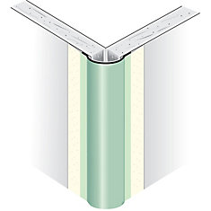 Paper-Faced Metal Outside Corner Bead, Bullnose 1/2 In. radius, 10 Ft.
