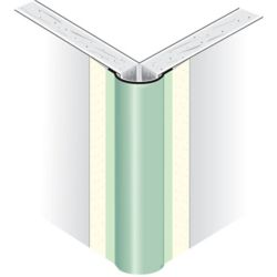 Beadex Cornière d'angle extérieure en métal recouverte de papier, nez bombé, rayon de 1/2 po, 10 pi.