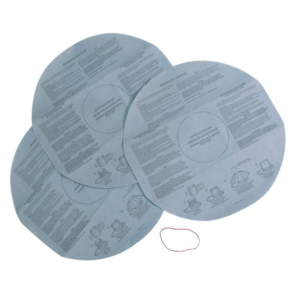 Cloth Filters for 9 L (2.5 Gal.) & Smaller Wet/Dry Vacuums (3-Pack)
