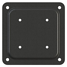 4 inch by 4 inch Wood To Wood Connector Plate in Black