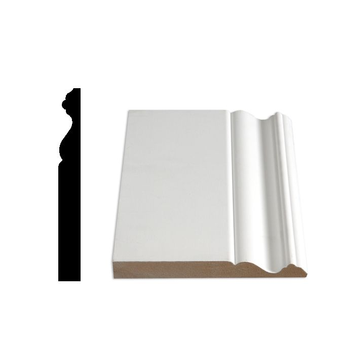 Alexandria Moulding Primed Fibreboard Colonial Base 5/8 In. x 5-9/16 In. x 8 Ft.