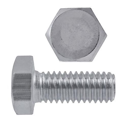 Vis à tête hexagonale 1/4 po-20 x 3/4 po en acier inoxydable 18,8 po - UNC