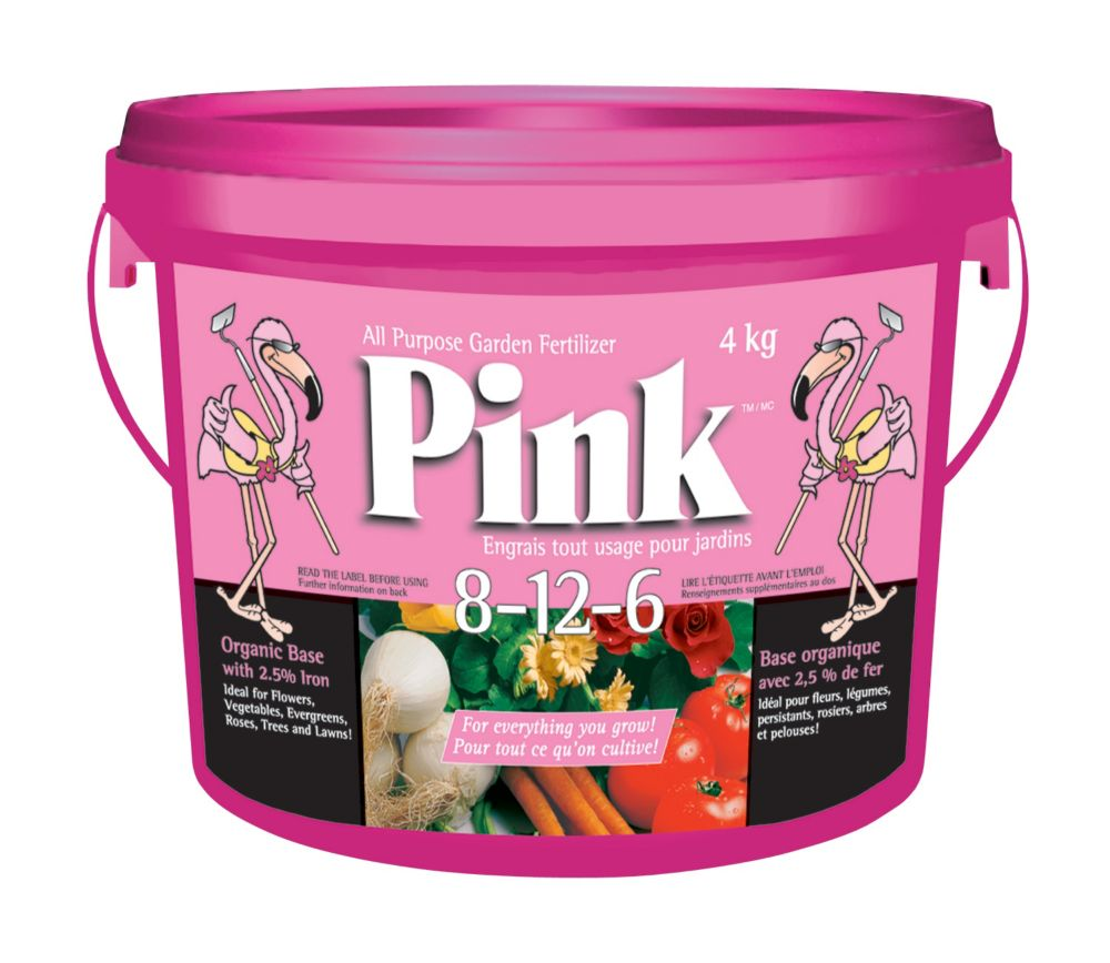 Engrais tout usage 8-12-6 Pink (seau de 4 kg)