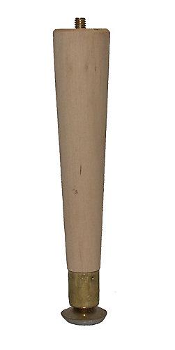 hardwood round taper leg hardwood 1 12 in x 1 12 in x 8 in