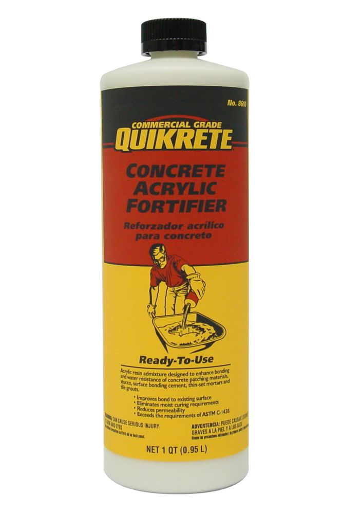 Home Depot Acrylic Cement : Quikrete concrete acrylic fortifier l the home depot