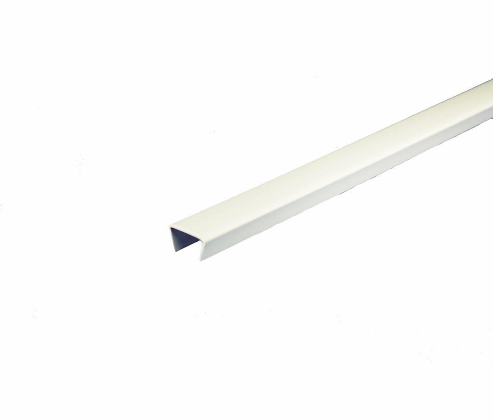 Bande de chant d piétagère en PVC, blanc - 1,27cm x 244cm (1/2 po x 8 pi)