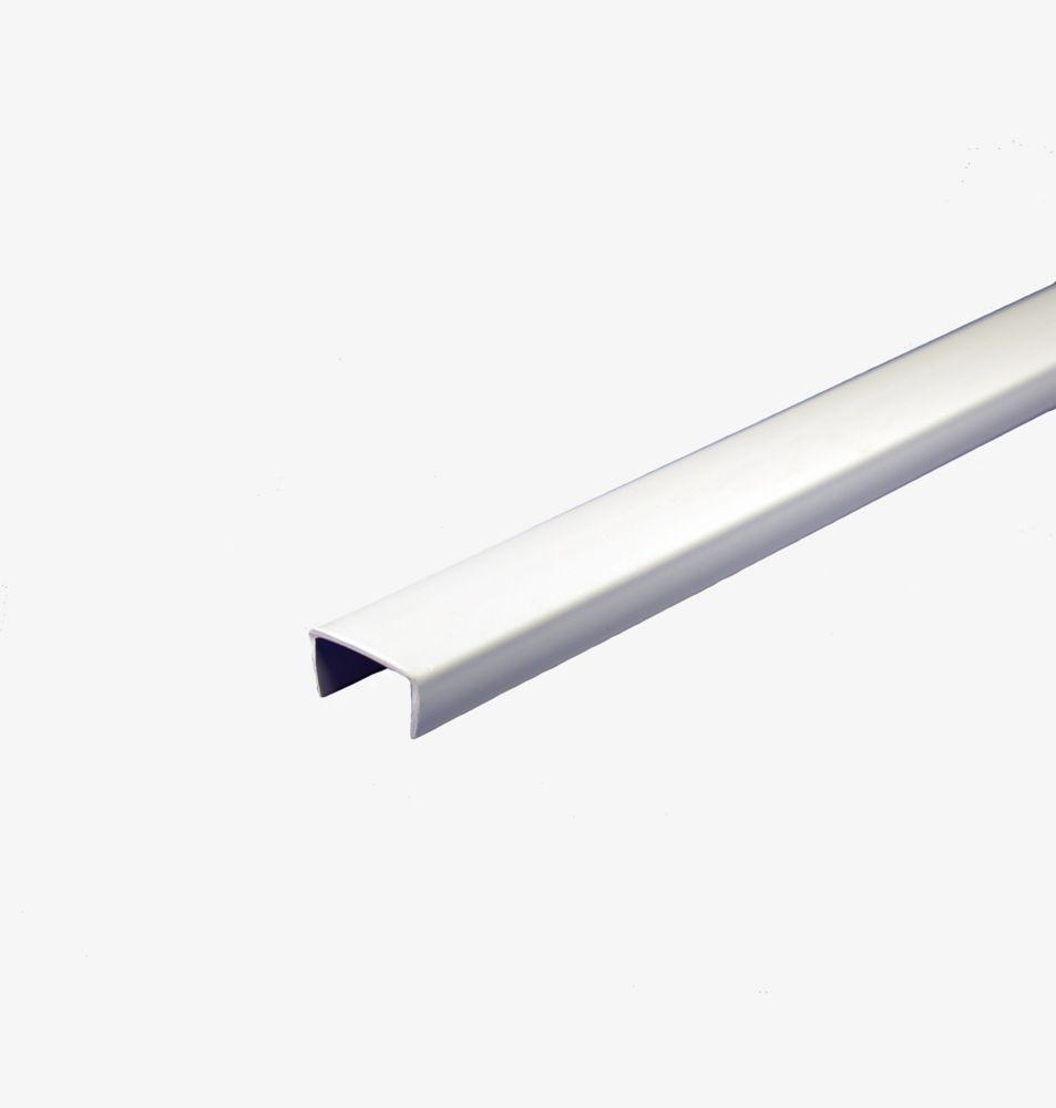PVC Shelf Edging, White 5/8 In. x 8 Ft.