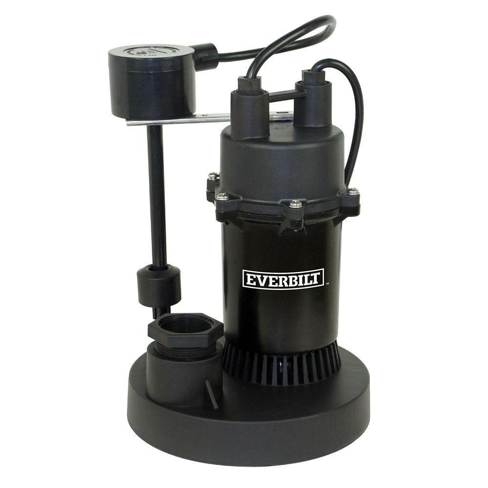 1/3 HP Aluminum Sump Pump w/Vertical Switch