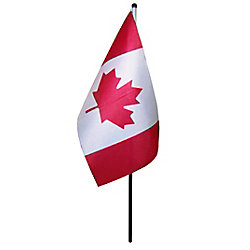 Flags Unlimited 5-inch x 10-inch Canadian Stick Flag