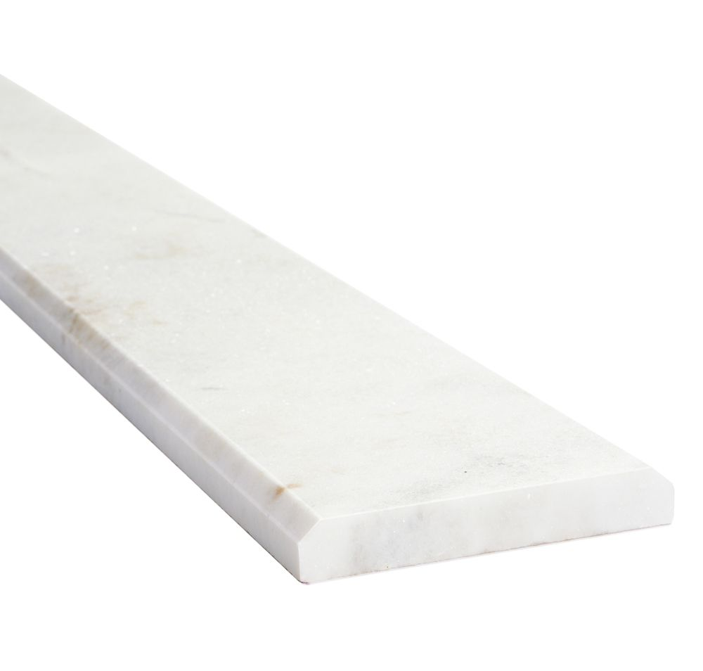 Carrara Threshold: Daltile 4-Inch X 36-Inch X 3/8-Inch Carrara Marble Natural