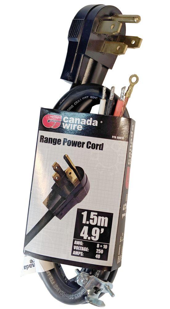 1.5-meter Stove Cord Kit in Black
