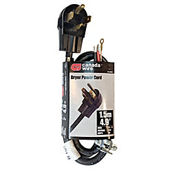 Canada Wire Ensemble pour sécheuse, 10/2, emballage de 8, 1,5 m, noir