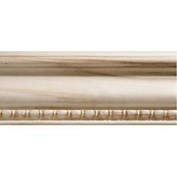 Ornamental Mouldings Cadrage en bois blanc dur, gaufré en perle et bobine 23/32 po X 3 po - prix par pièce 7 pied