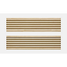 3/4-inch x 3-inch x 7 ft.  White Hardwood Fluted Front-Caned Back Casing Moulding