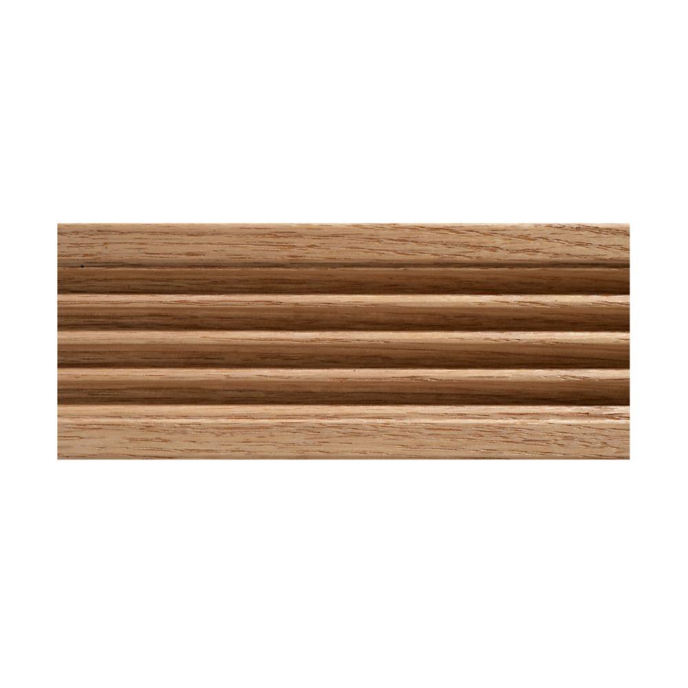 15/32-inch x 3-inch x 7 ft. Oak Fluted Casing Moulding