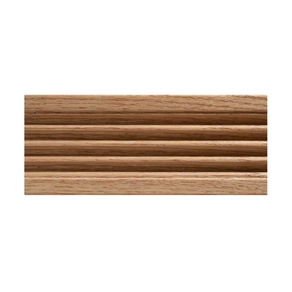 15/32-inch x 3-inch x 7 ft. Oak Fluted Casing Moulding