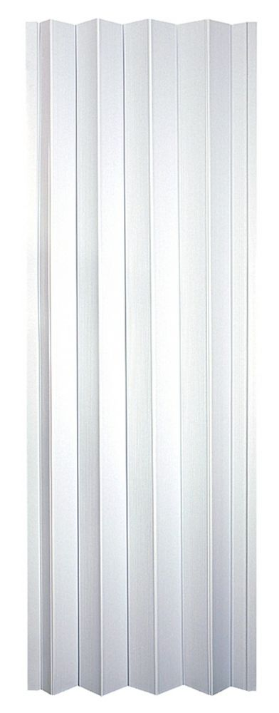 Oakmont 24 to 36 Inch Frost White Accordion Folding Door