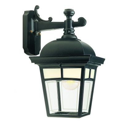 Imagine, Downlight Wall Mount, Frosted Pattern Glass Panels, Black