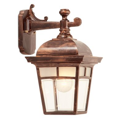Imagine, Downlight Wall Mount, Frosted Pattern Glass Panels, Antique Copper