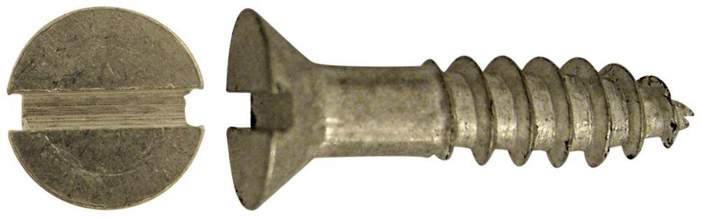 8X1-1/2 Flat Slot Hd Aluminum Screw