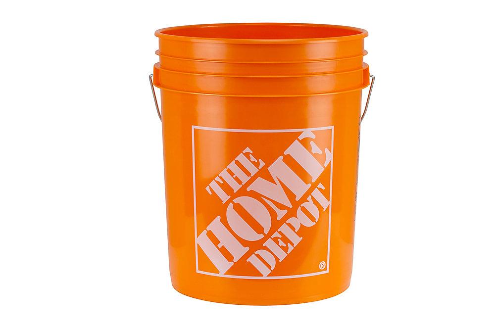Orange Home Depot Logo Bucket, 19 L