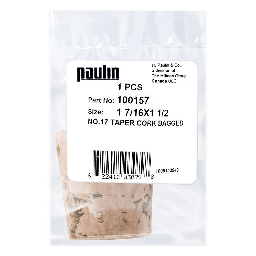 1-7/16X1-1/2 #17 Taper Cork 1Pc