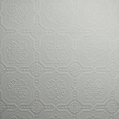 Attractive Ceiling Tile Paintable White Wallpaper