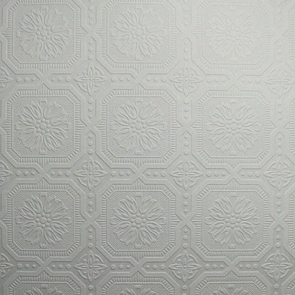 Ceiling Tile Paintable White Wallpaper