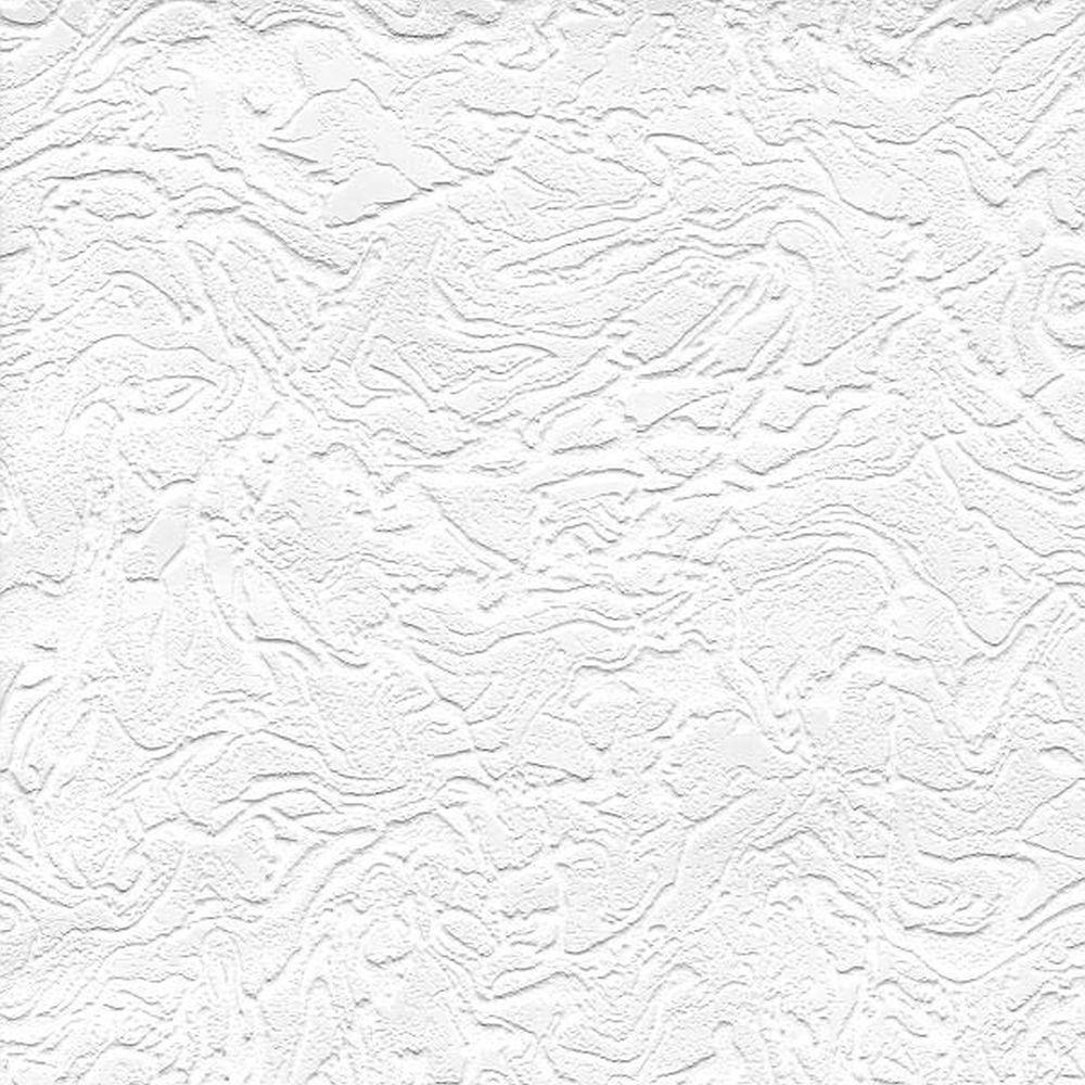 Swirl Paintable White Wallpaper