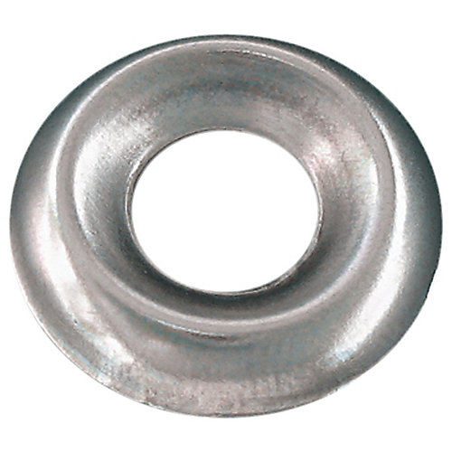 #6 Countersunk Finish Washer Steel Nickel