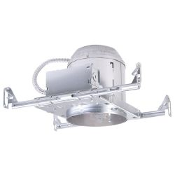 Halo E26 6-inch Aluminum Recessed Lighting Housing for New Construction Ceiling, Insulation Contact, Air-Tite