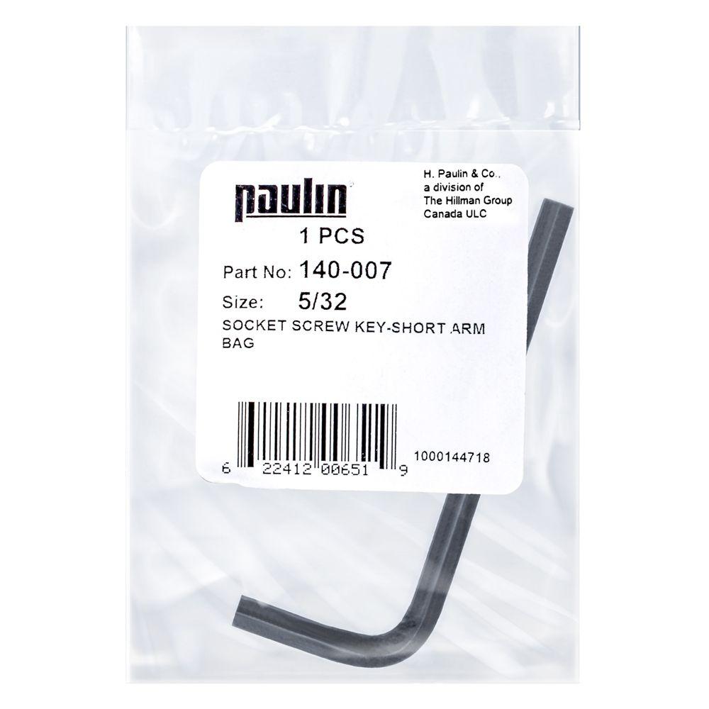 Papc 5/32 Short Arm Socket Key