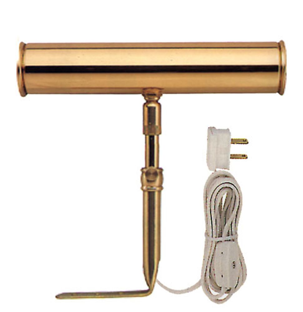 Brass Slimline Picture Light - 7 Inches