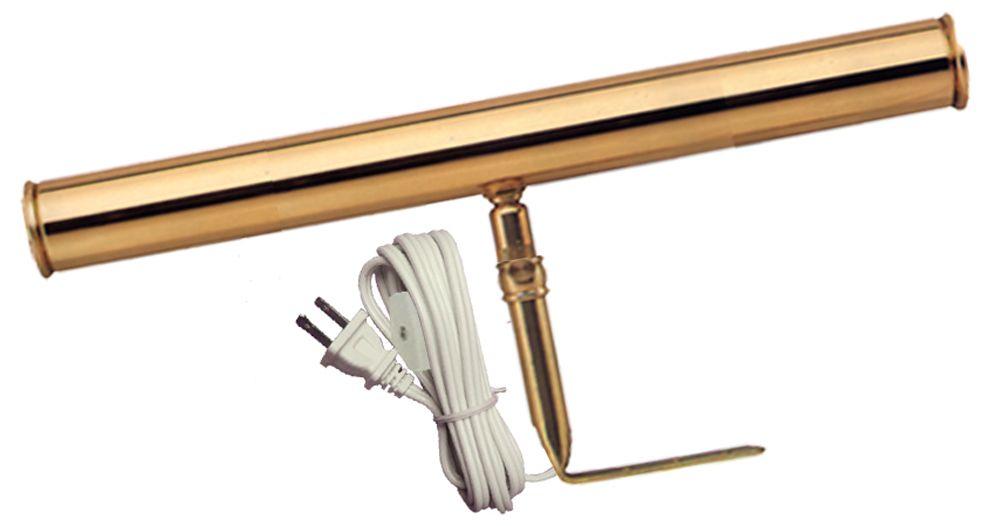Brass Slimline Picture Light - 14 Inches