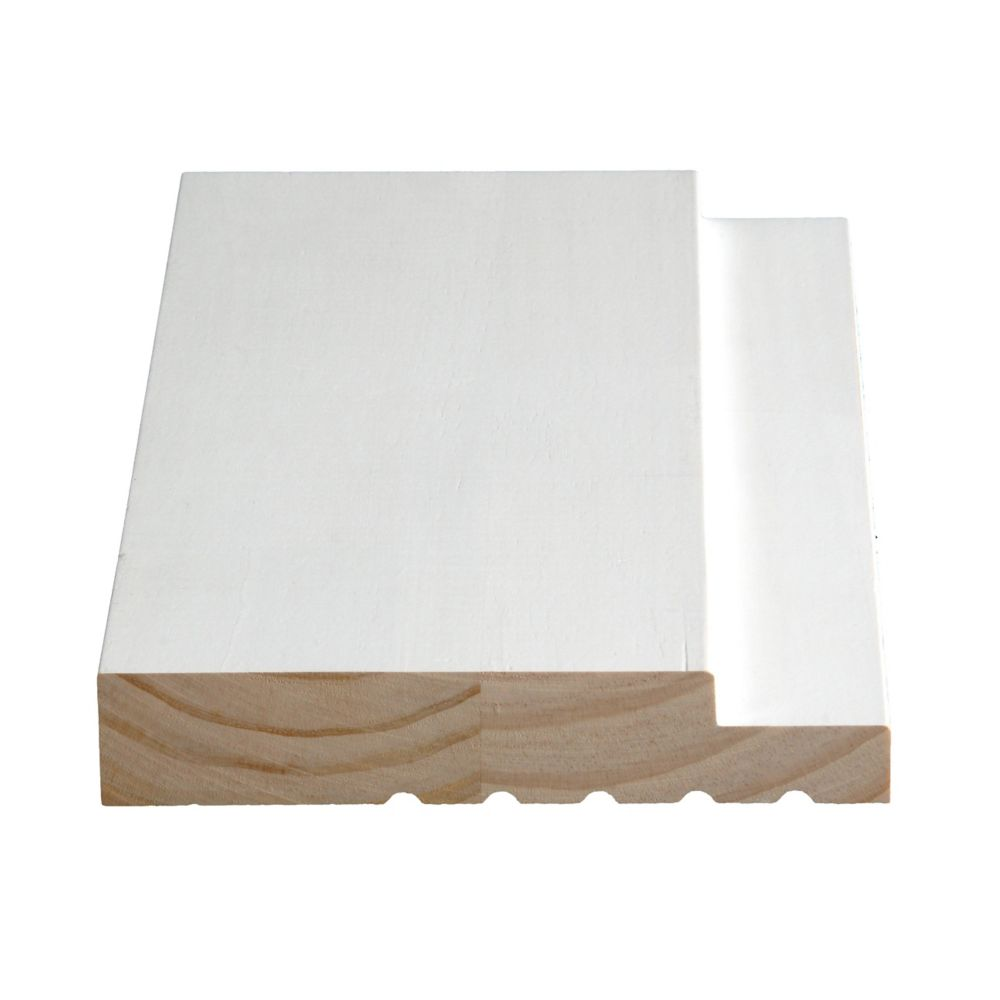 Primed Finger Jointed Pine Frame 1-1/4 In. x 6-9/16 In. (Price per linear foot)