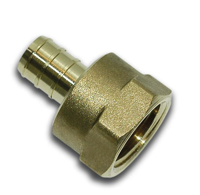 1/2 Inch Barb X 1/2 Inch Female Pipe Thread Non Swivel Adapter