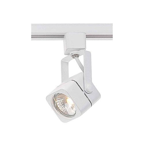 1-Light Halogen Track Light Head in White