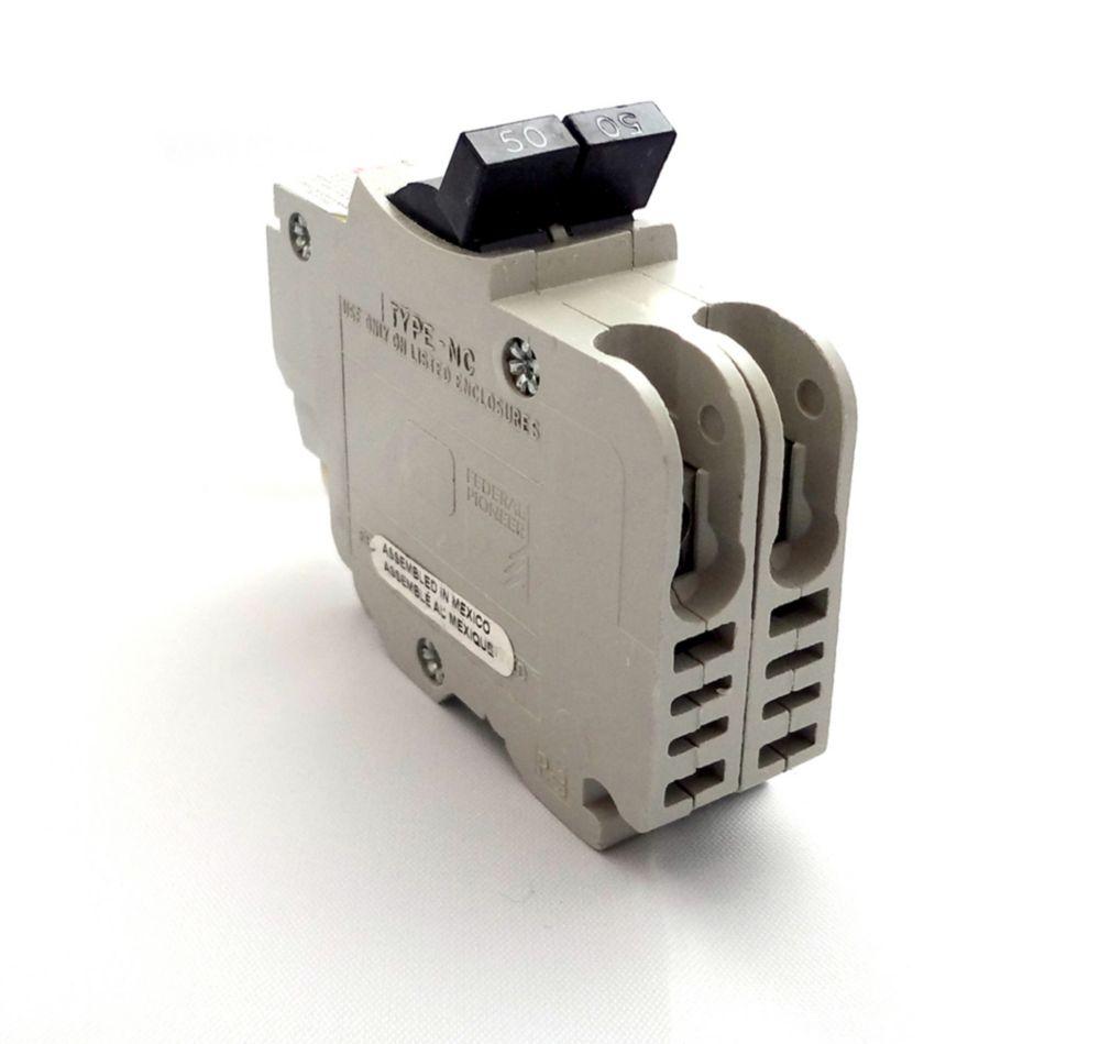 Double Pole 50 Amp Stab-lok (NC) Plug-On Circuit Breaker