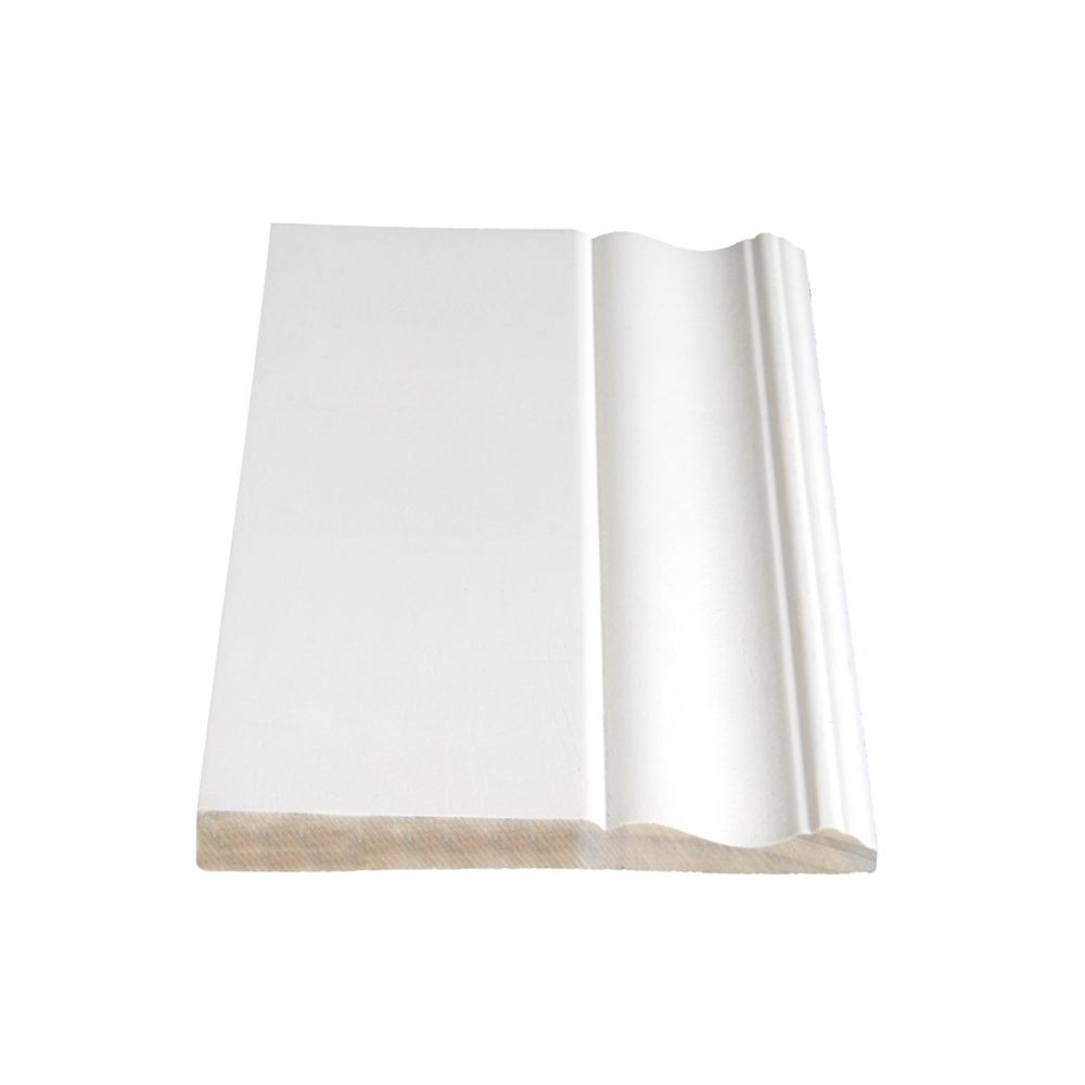 Primed Finger Jointed Pine Base 9/16 In. x 5-1/4 In. (Price per linear foot)