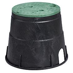 Boîte d'accès aux vannes circulaire de 10 po