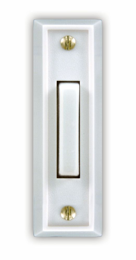 Wired White Push Button With Lighted White Center Bar