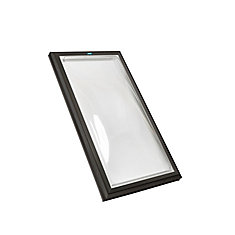 2 ft. x 4 ft. Fixed Curb Mount Double Glazed Clear Acrylic Dome Skylight with Black Frame