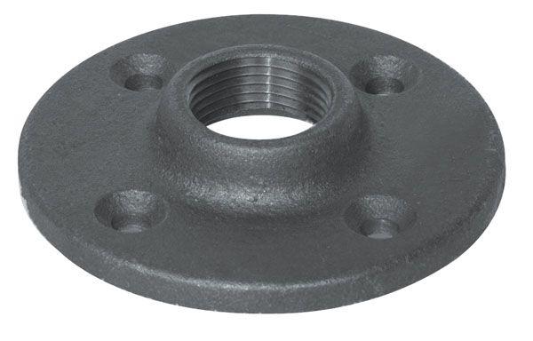 Aqua-Dynamic Fitting Black Iron Floor Flange 1 Inch