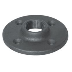 Aqua-Dynamic Fitting Black Iron Floor Flange 1 Inch